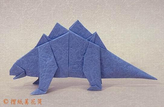 схема оригами стгозавр.