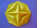 Оригами схема звезды.  Звезда в восьмиугольнике.  Приятного складывания!  Квадратный лист бумаги.