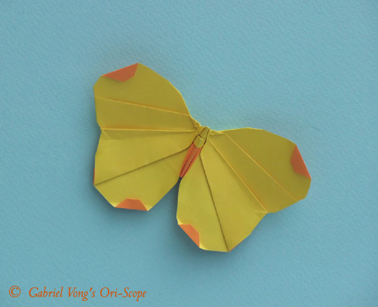 Схемы модульного оригами бабочка.