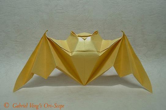 летучая мышь оригами.